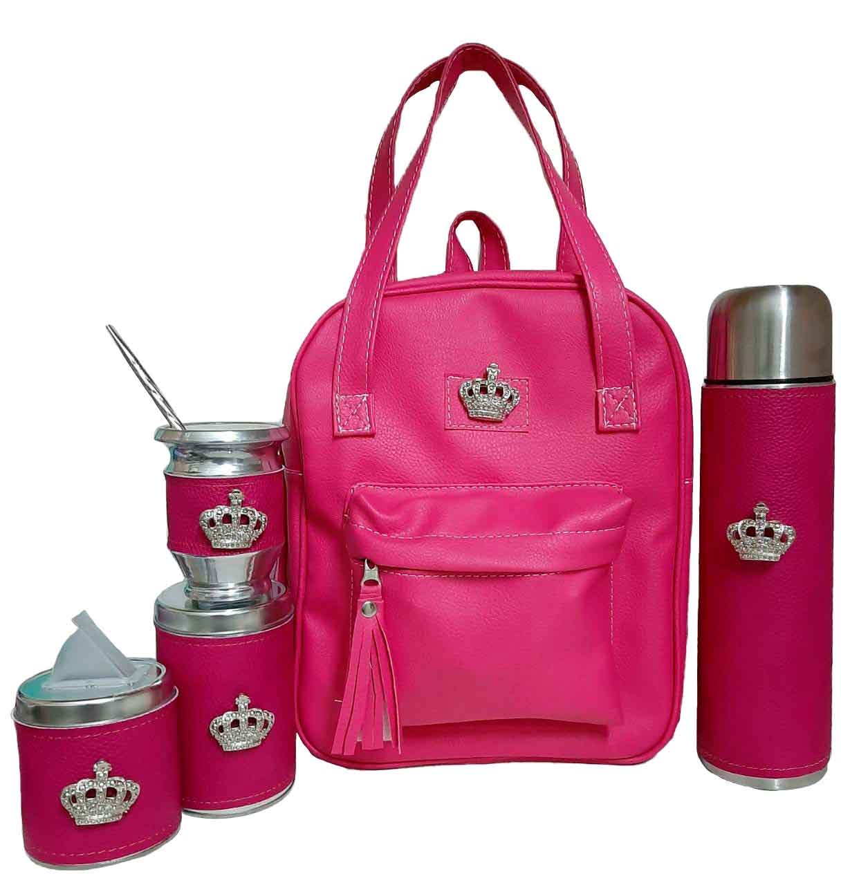 Cartera-nueva-con-kit-matero-corona-color-fucsia