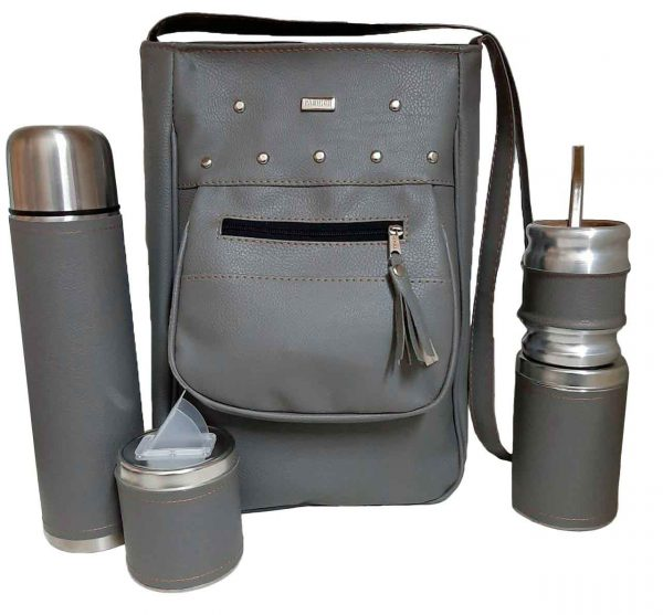 Set de mate con cartera Yoyi gris