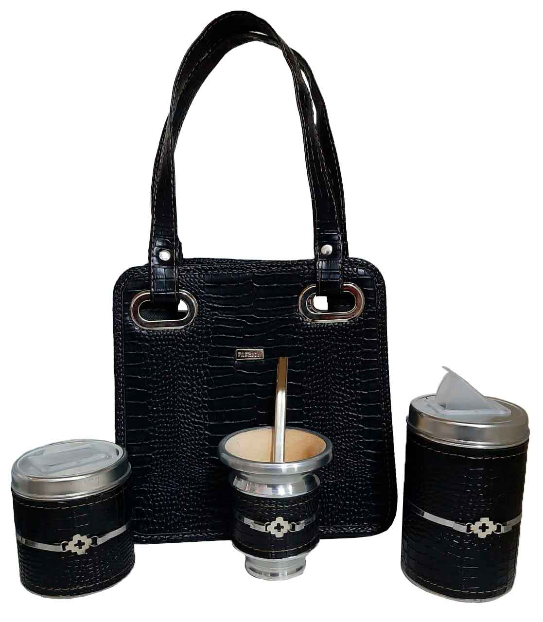 Set matero con mini cartera negra