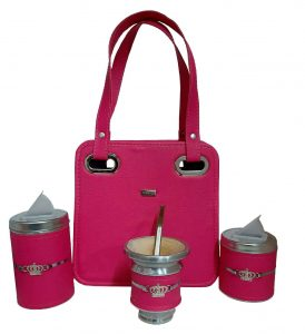 Set matero con mini cartera fucsia