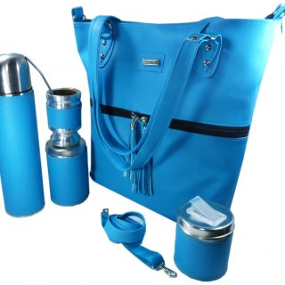 Set matero con cartera color Azul