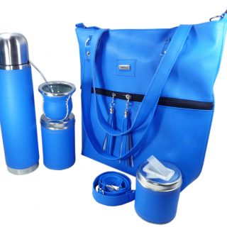 Set matero con cartera color Azul Francia