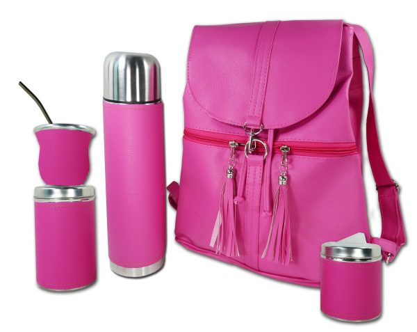 Set matero con mochila color fucsia