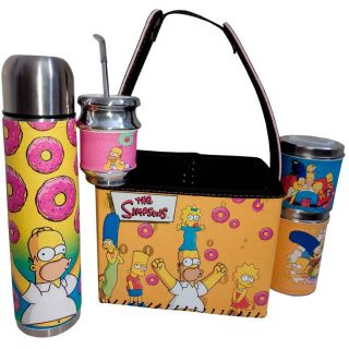 Set de mate con canasta diseño Simpsons